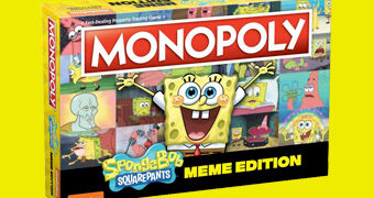 """Jogo Monopoly Bob Esponja Calça Quadrada """"Memes da Internet"""""""
