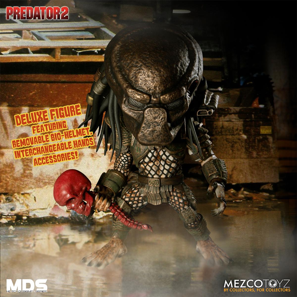 Boneco Predator 2-Deluxe City Hunter Mezco Designer Series