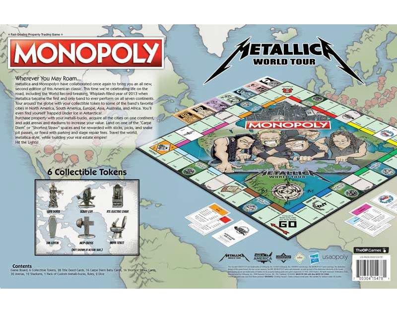 Jogo Monopoly Metallica World Tour Edition