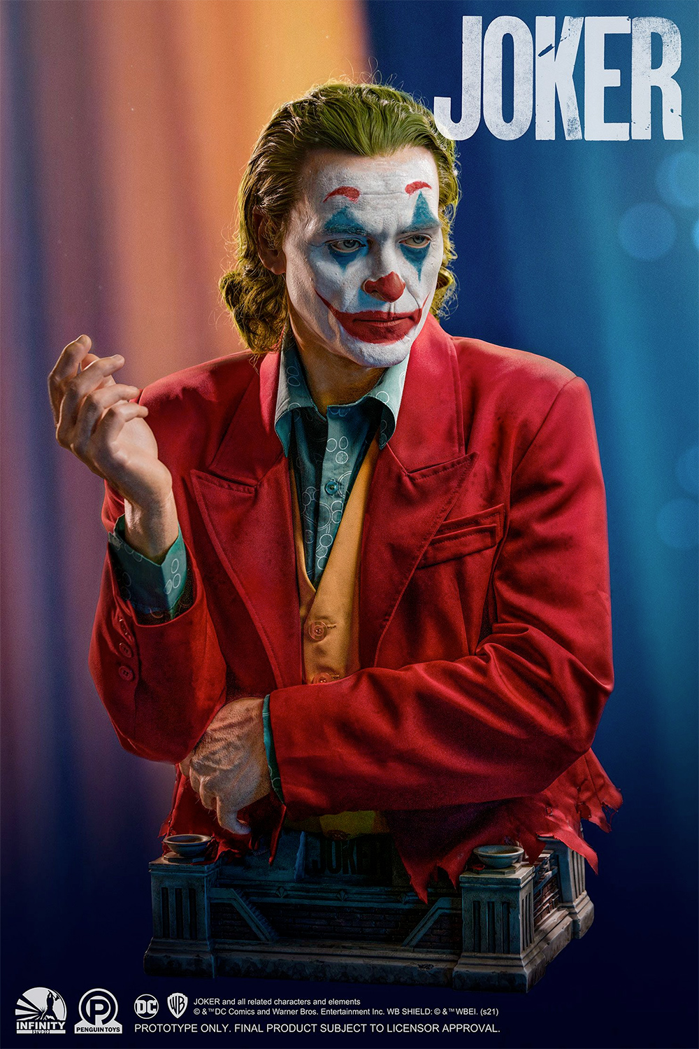 Busto Tamanho Real Coringa Joker Arthur Fleck Life-Size