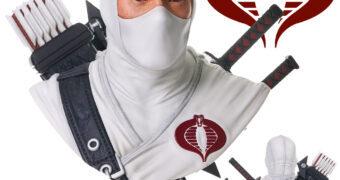 Busto Ninja Storm Shadow Legends in 3D em Escala 1:2 (G.I. Joe)
