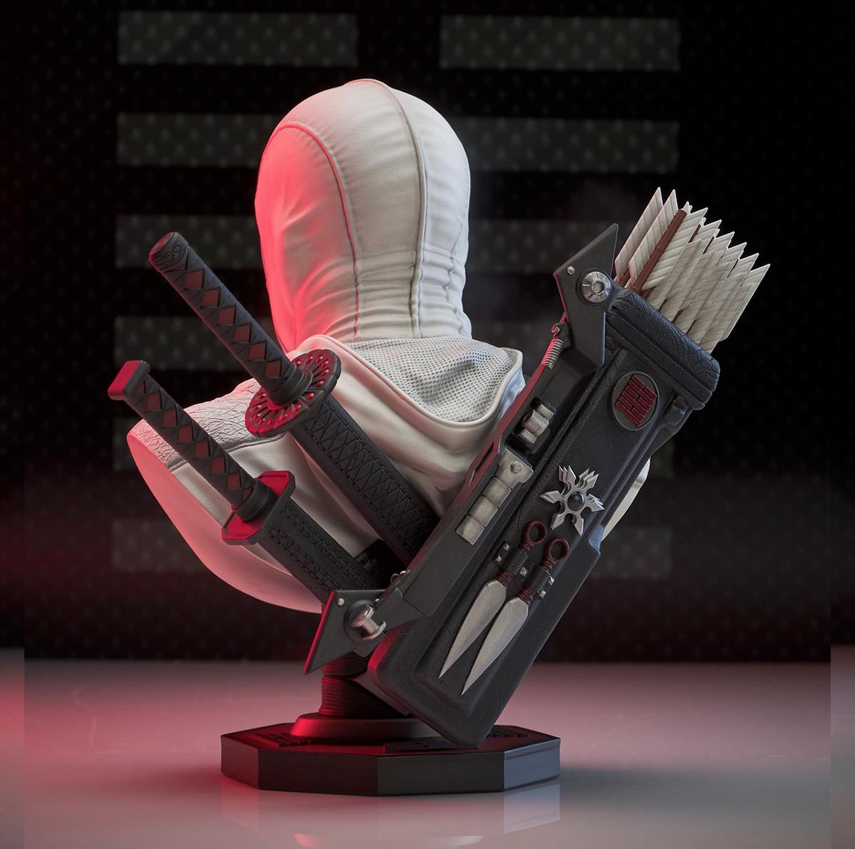 G.I. Joe Legends in 3D Storm Shadow 1:2 Scale Bust