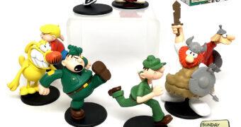 Mini-Figuras Tiras em Quadrinhos Clássicas: Recruta Zero, Dennis Pimentinha, Hagar e Outros