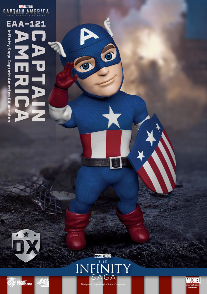 Action Figure Infinity Saga Captain America- The First Avenger 80th Anniversary Egg Attack Action