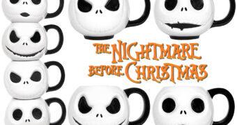 Quatro Canecas Jack Skellington Expressões Faciais (The Nightmare Before Christmas)