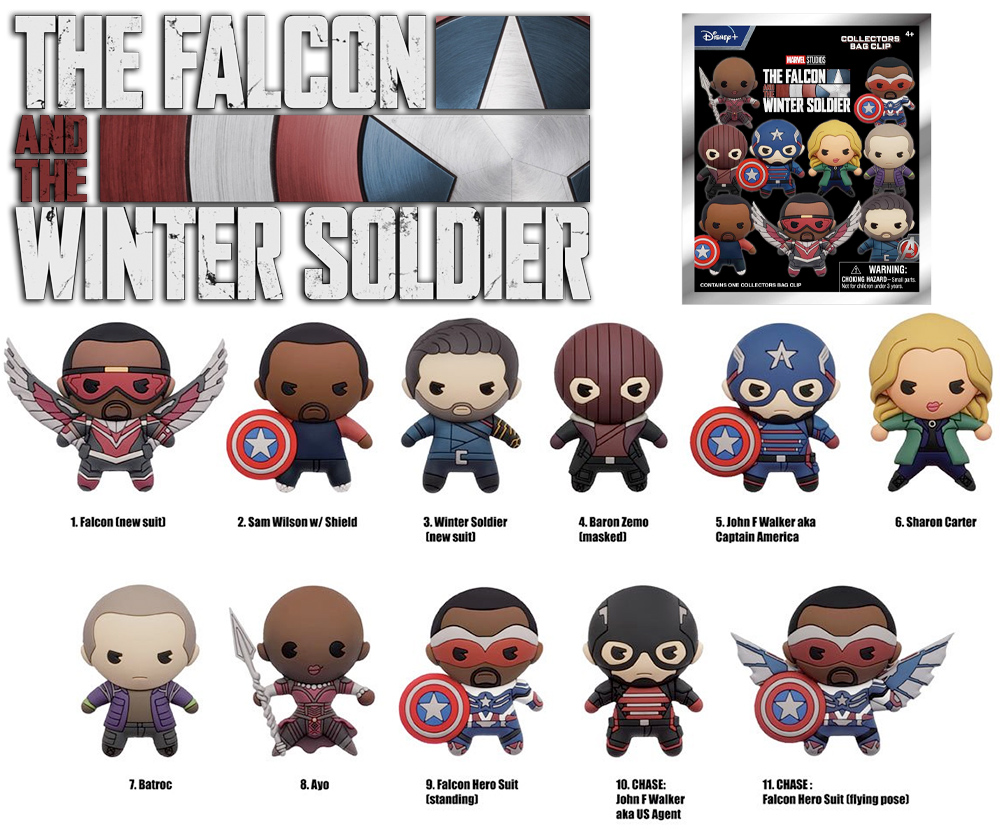 Chaveiros The Falcon and Winter Soldier Figural Bag Clips
