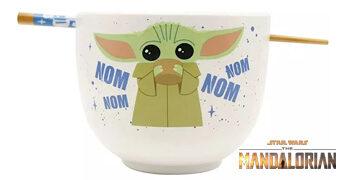 Tigela Baby Yoda Ramen com Hashis (Star Wars: The Mandalorian)