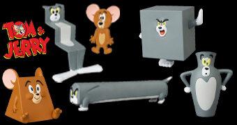 Bonecos Tom e Jerry UDF Série 2 Curta-Metragens da MGM (Medicom)