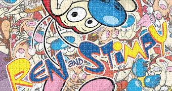 Quebra-Cabeça do Desenho Animado Ren and Stimpy