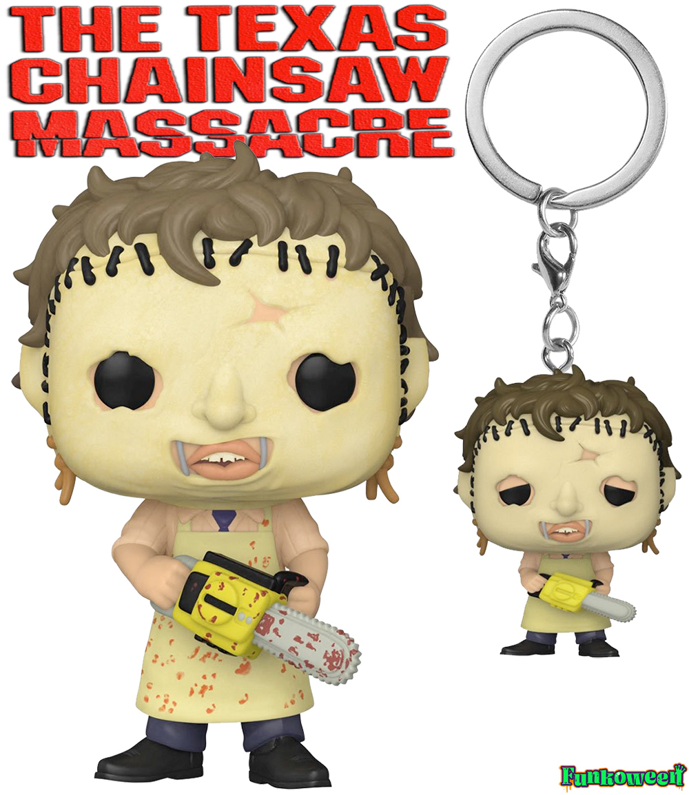 Boneco Funko Pop e Chaveiro Leatherface Texas Chainsaw Massacre