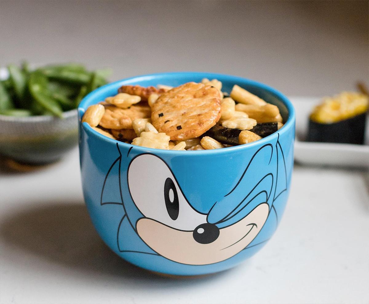 Tigela Sonic the Hedgehog Ramen com Hashis