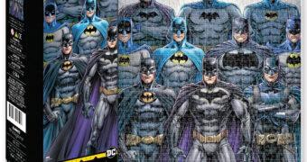 Quebra-Cabeça Batman Batsuits ao Longo de 8 Décadas com 500 Peças