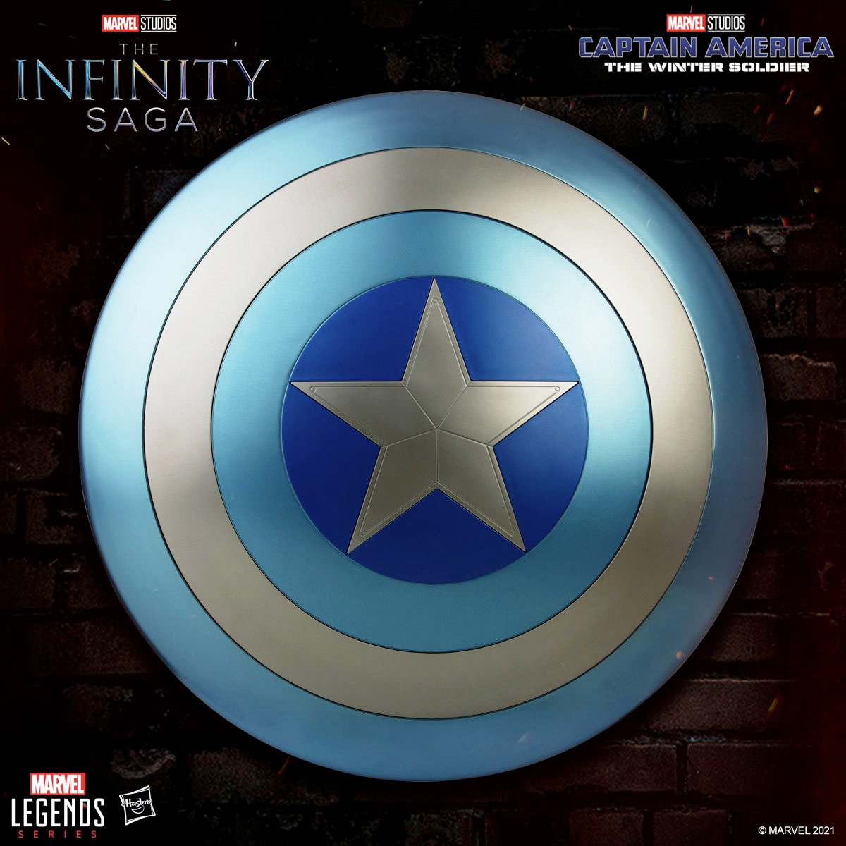 Escudo Marvel Legends Captain America Stealth Shield from The Winter Soldier