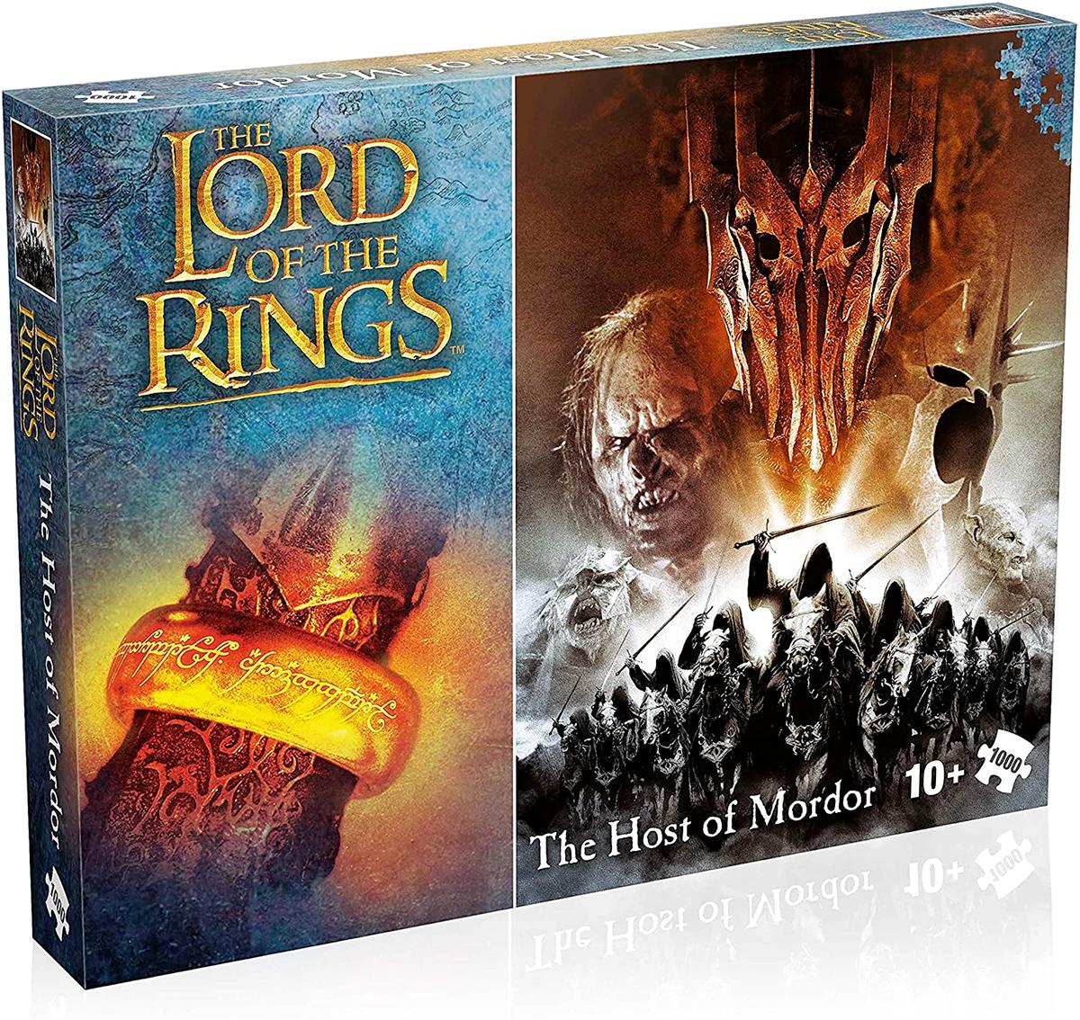 3 Quebra-Cabeças da Trilogia O Senhor dos Anéis com 1.000 Peças Cada