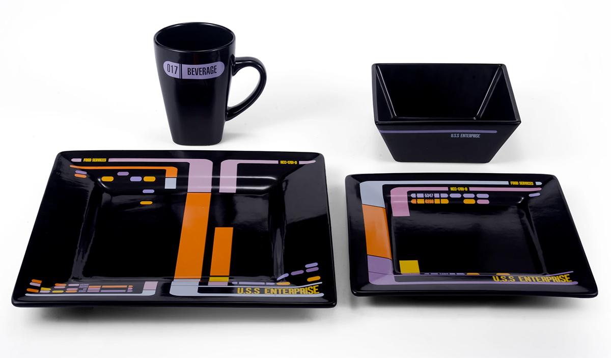 Jogo de Pratos Star Trek A Nova Geração Interface do LCARS