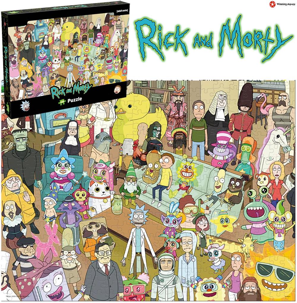 Quebra-Cabeça Rick and Morty Sala de Estar da Família Smith com 1.000 Peças