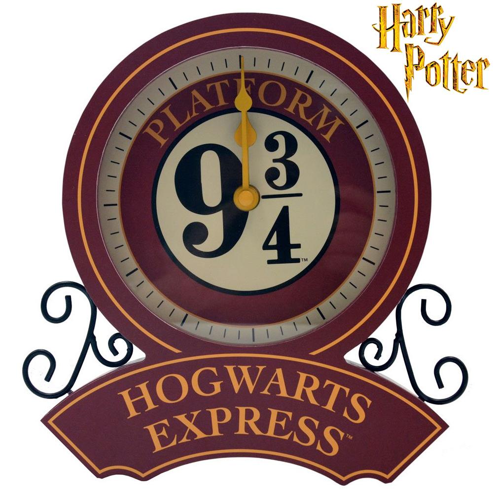 Relógio de Mesa Harry Potter Hogwarts Express Plataforma 9 ¾