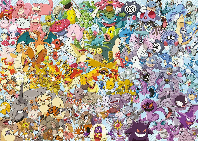 Quebra-Cabeça Pokémon Ravensburger Challenge com 1.000 Peças