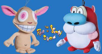The Ren and Stimpy Show Bonecos de Pelúcia Deformados