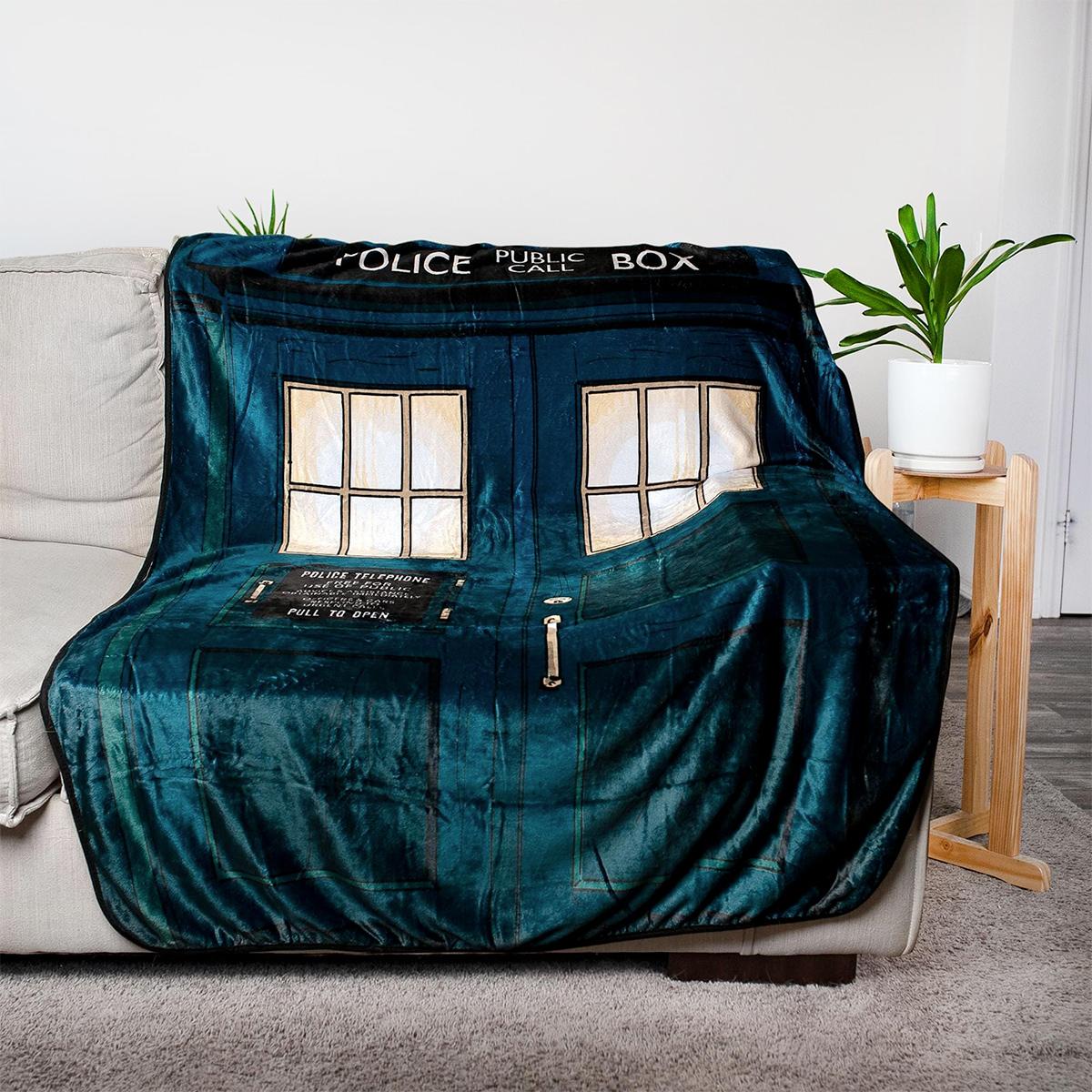 Cobertor de Lance TARDIS Doctor Who