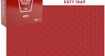 Quebra-Cabeça Impossível Ketchup Heinz com 570 Peças Vermelhas