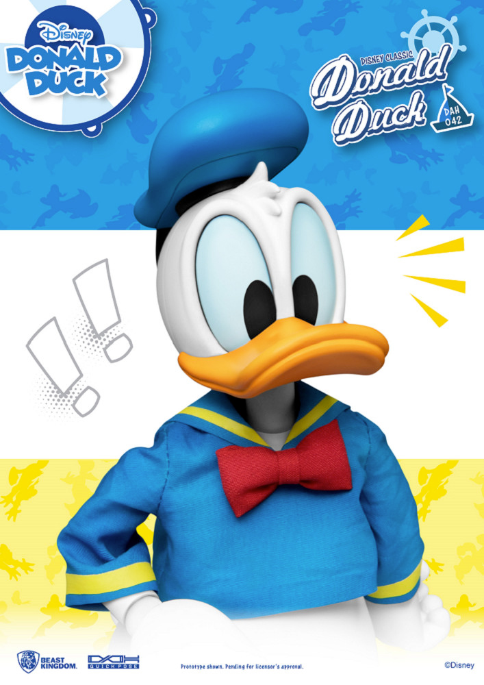 Pato Donald Clássico Dynamic Action Heroes (DAH) - Action Figure Disney Beast Kingdom