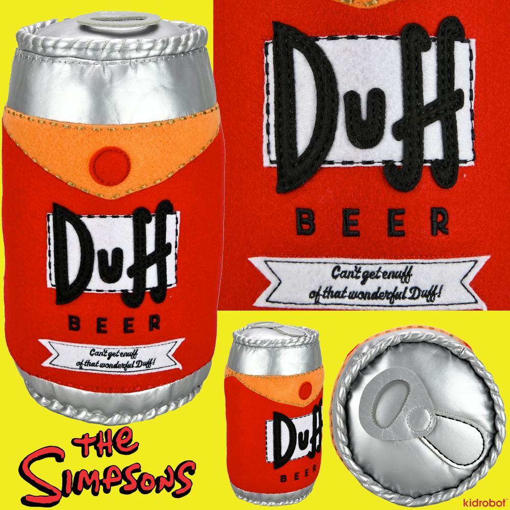 Os Simpsons: Lata Duff Beer de Pelúcia (Kidrobot)