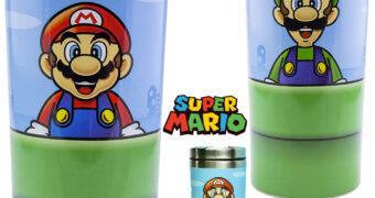 Caneca de Viagem Super Mario e Luigi Cano Verde de Aço Inoxidável