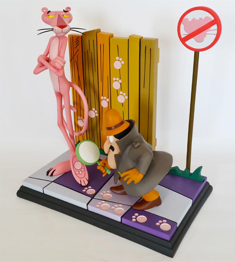 Estátua Pantera Cor-de-Rosa e Inspetor Clouseau (The Pink Panther 1963)