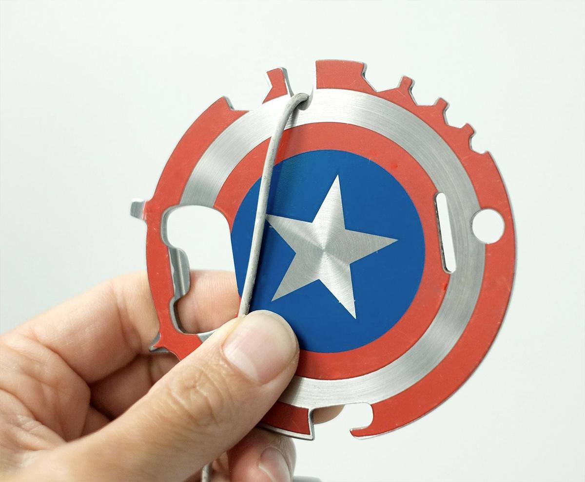 Ferramenta Multiuso Escudo do Capitão América