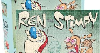 """Quebra-Cabeça Ren and Stimpy """"Sweet Release"""", o Pum Venenoso com 500 Peças"""