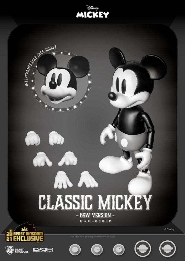 Mickey Mouse em Preto e Branco Dynamic Action Heroes