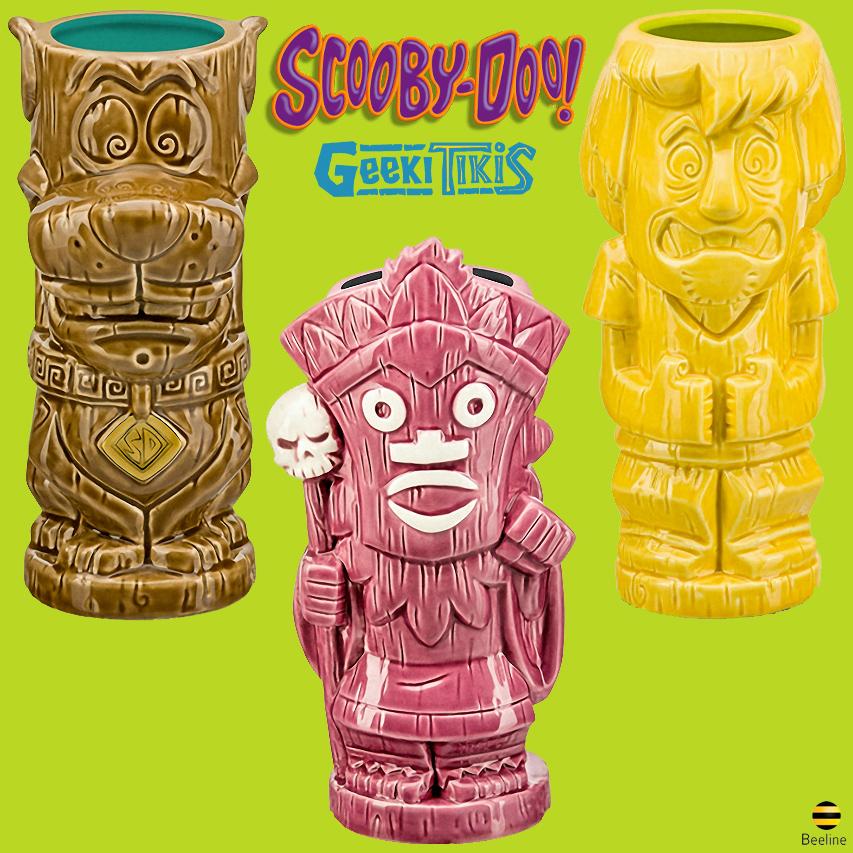 Canecas Scooby-Doo Geeki Tikis: Scooby, Salsicha e Witch Doctor
