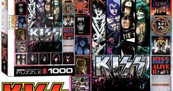"""Quebra-Cabeça KISS """"The Albums"""" com 1.000 Peças"""