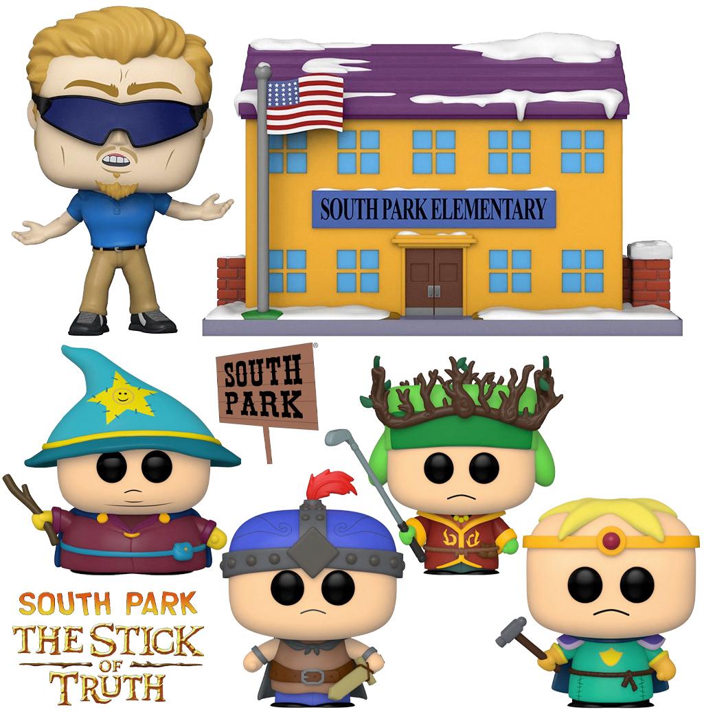 Set Pop! Town South Park Elementary e Bonecos Pop! South Park: The Stick of Truth