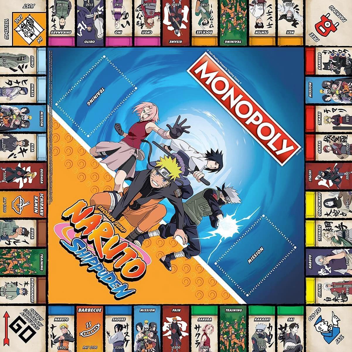 Jogo Monopoly Naruto Shippuden