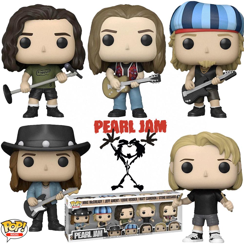 Bonecos Pop! Rock da Banda Pearl Jam
