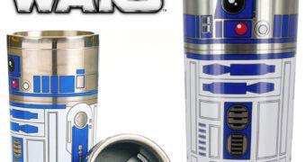 Caneca de Viagem R2-D2 Star Wars Travel Mug de Aço Inoxidável