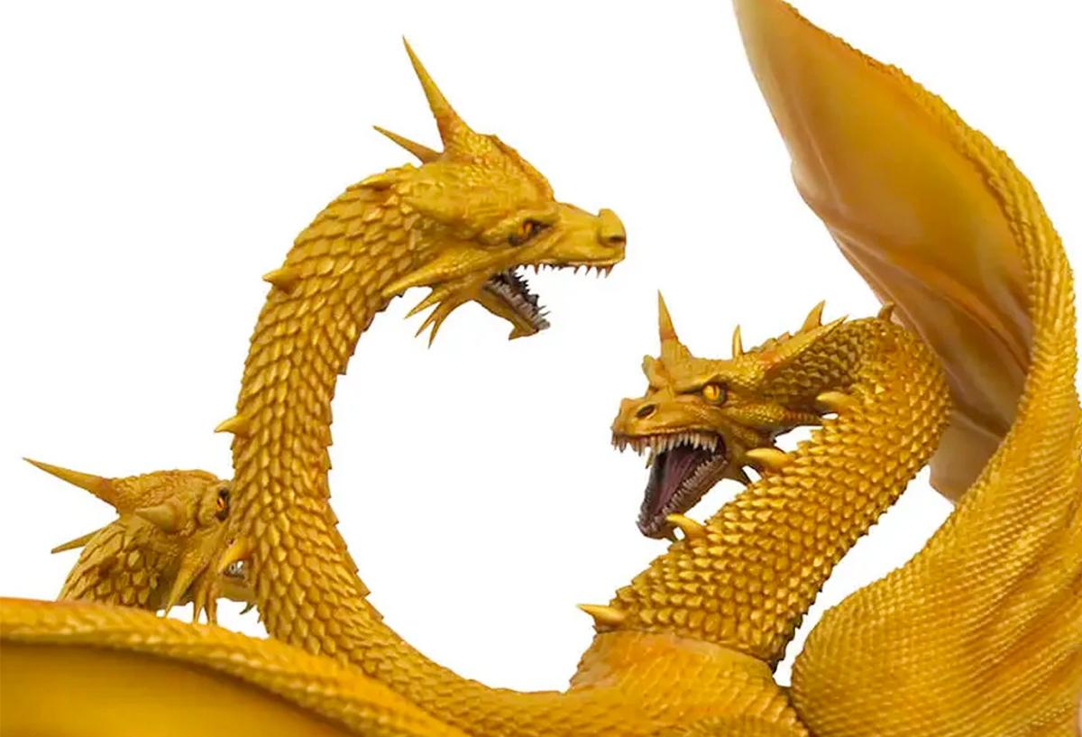 Ghidorah em Godzilla vs. King Ghidorah 1991 – Estátua Diamond Gallery Diorama