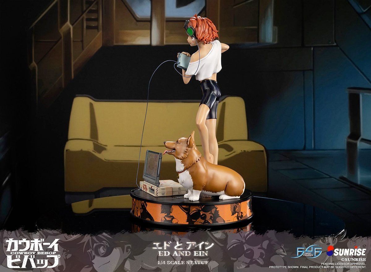 Cowboy Bebop Ed and Ein 1/4 Scale Statue