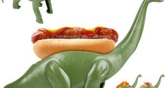 """Porta Hot Dog Estegossauro """"WEENIEsaurus"""""""