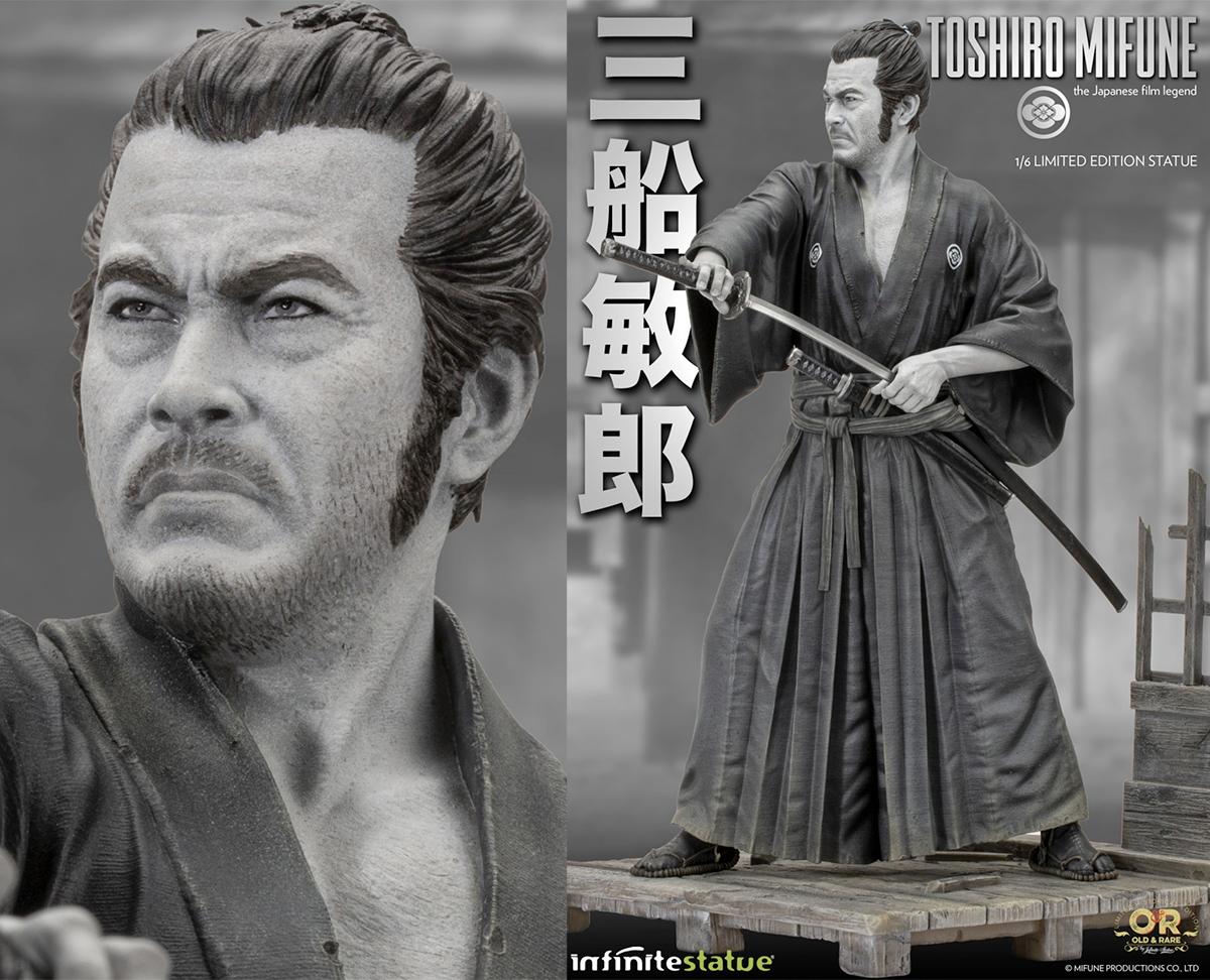 Toshiro Mifune, o Último Samurai - Estátua Perfeita 1:6 da Infinite Statue
