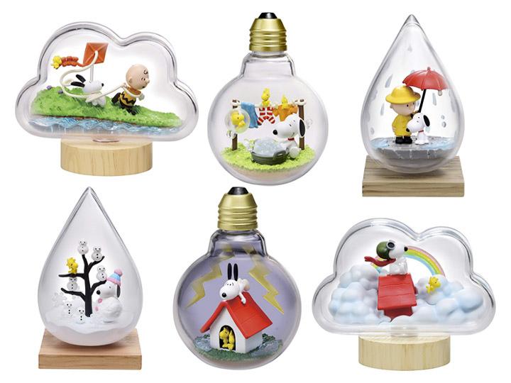 Peanuts Snoopy Weather Terrarium Boxed Set of 6 Capsules