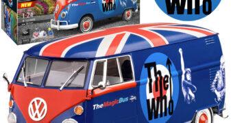"""The Who Kombi T1 """"Magic Bus"""" – Kit Revell em Escala 1:24 (Dia do Rock)"""