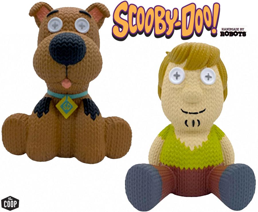 Scooby-Doo e Salsicha Handmade By Robots - Bonecos de Vinil no Estilo Crochê Amigurumi
