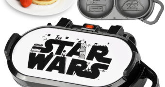Panquequeira Elétrica Star Wars Faz Panquecas do Darth Vader e R2-D2
