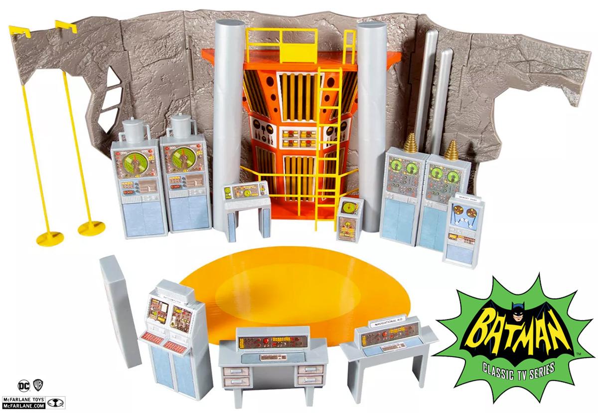 Playset Batcaverna da Série Clássica Batman 1966 (McFarlane Toys)