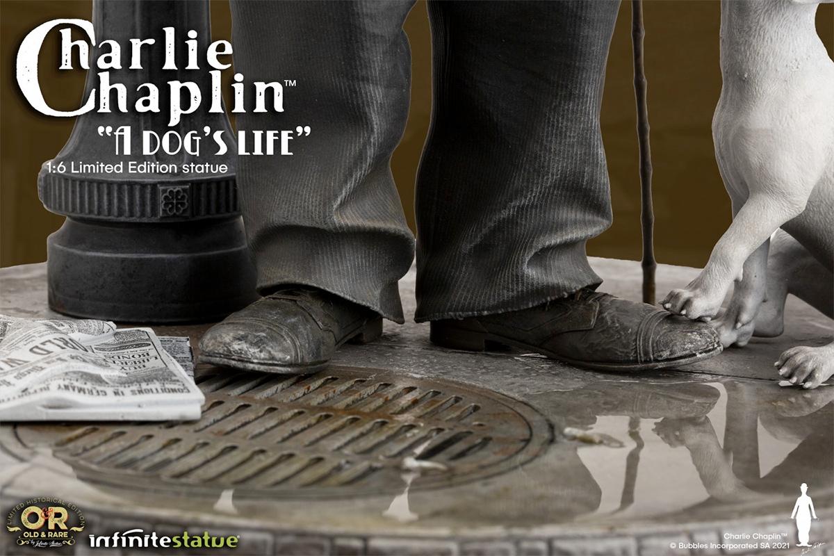 Estatua Charlie Chaplin A Dogs Life 1918 Old and Rare Infinite Statue