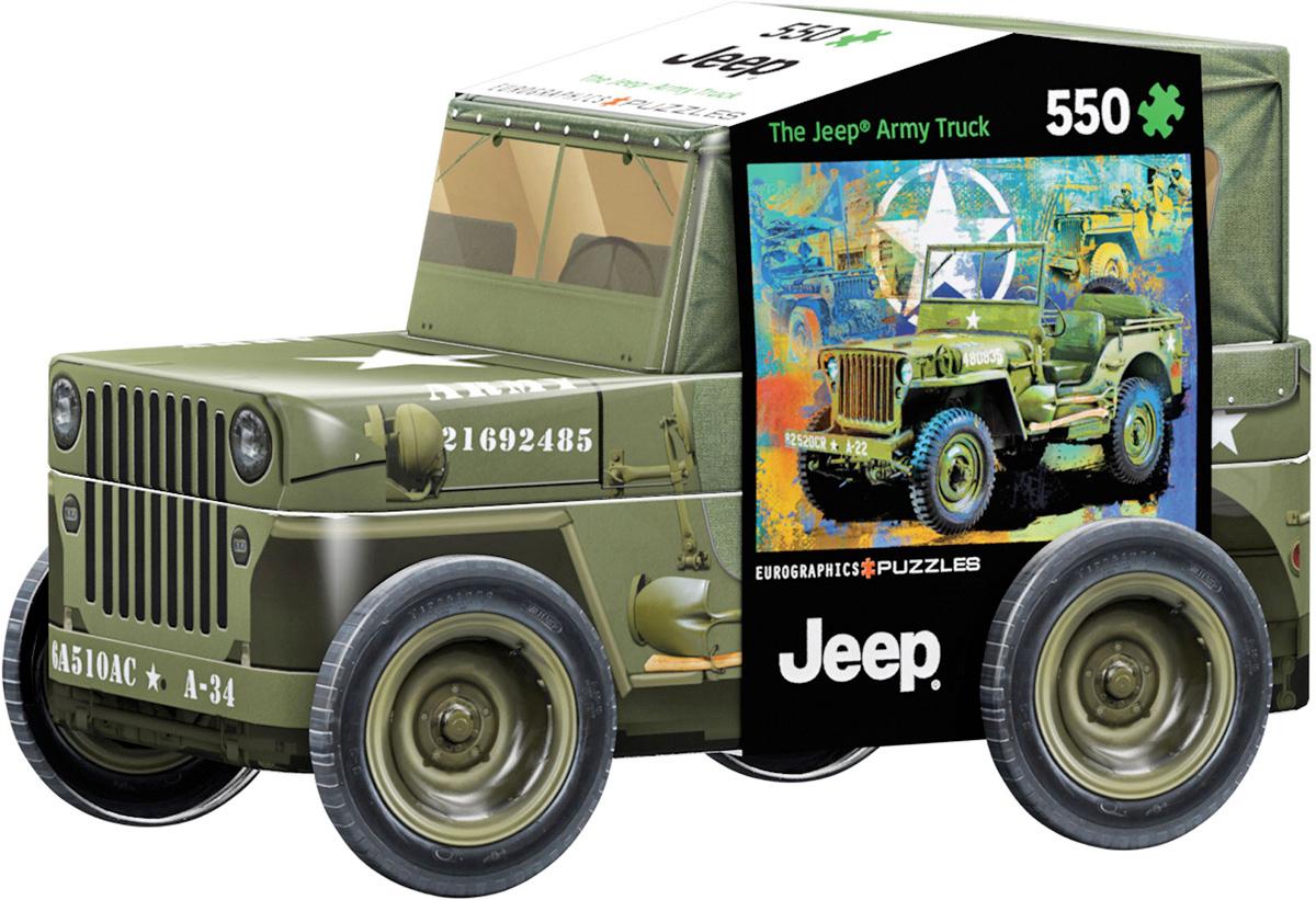 Quebra-Cabeça Jeep Militar da Segunda Guerra em Lata 3D