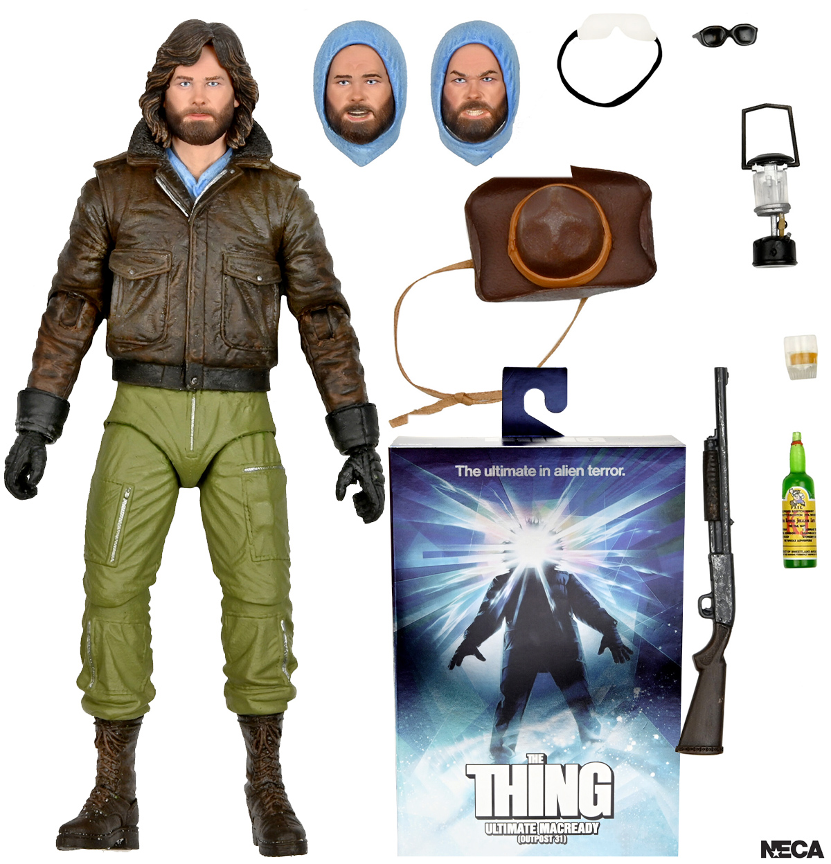 MacReady (Kurt Russell) em O Enigma de Outro Mundo (The Thing) - Action Figure Neca Ultimate 7″